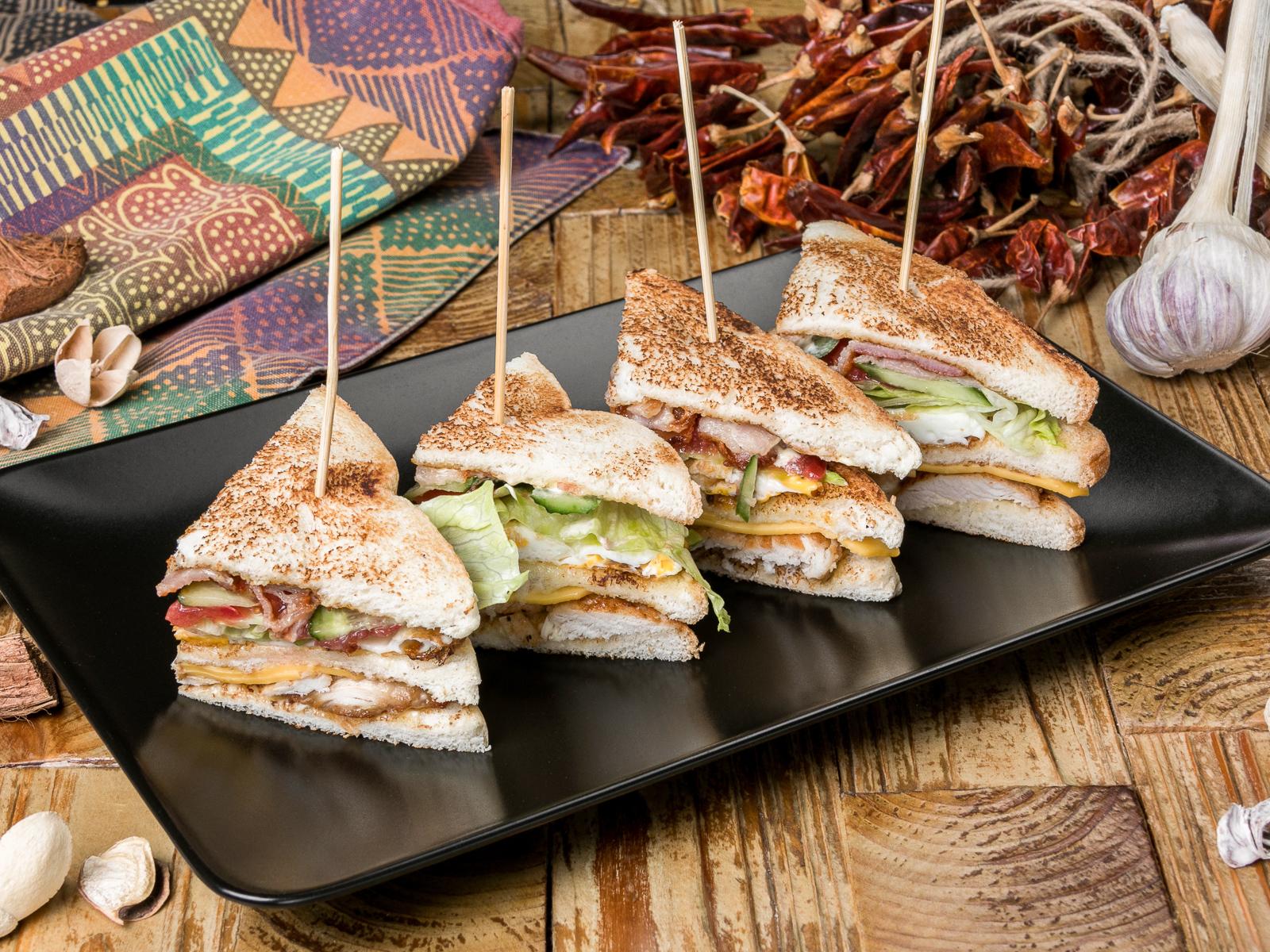 Клаб сэндвич с куриной грудкой