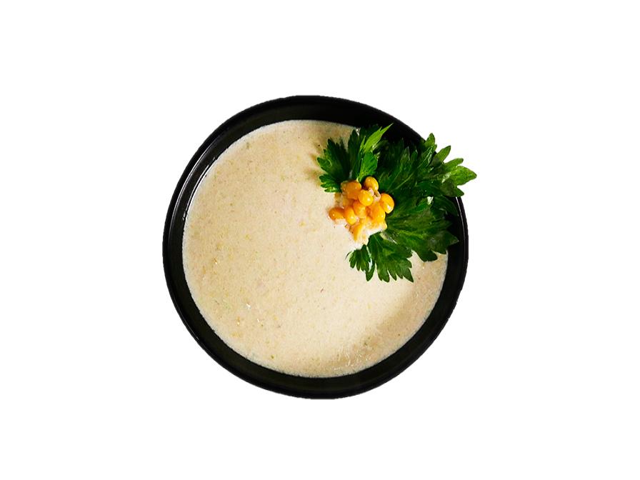 Кукурузный суп с лососем