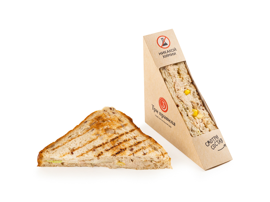 Сэндвич с тунцом на зерновом хлебе