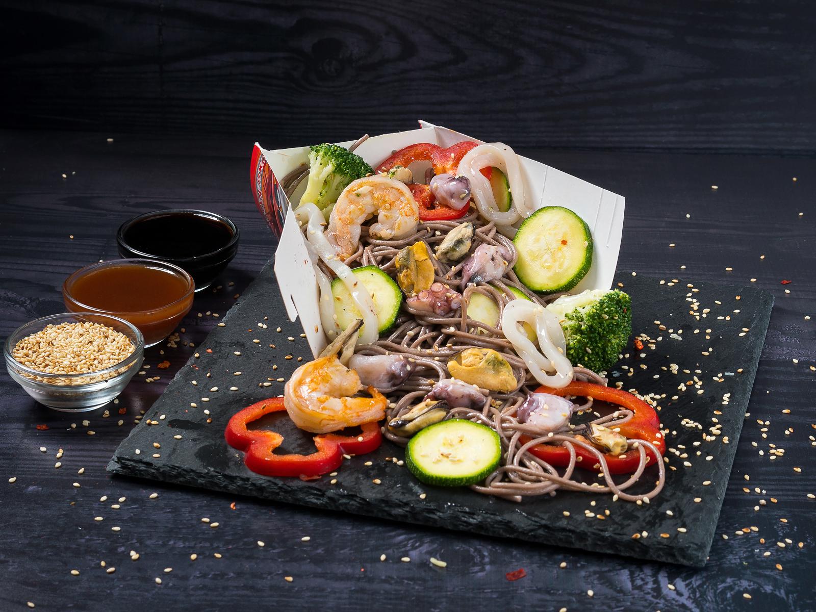 Морепродукты в соусе Терияки