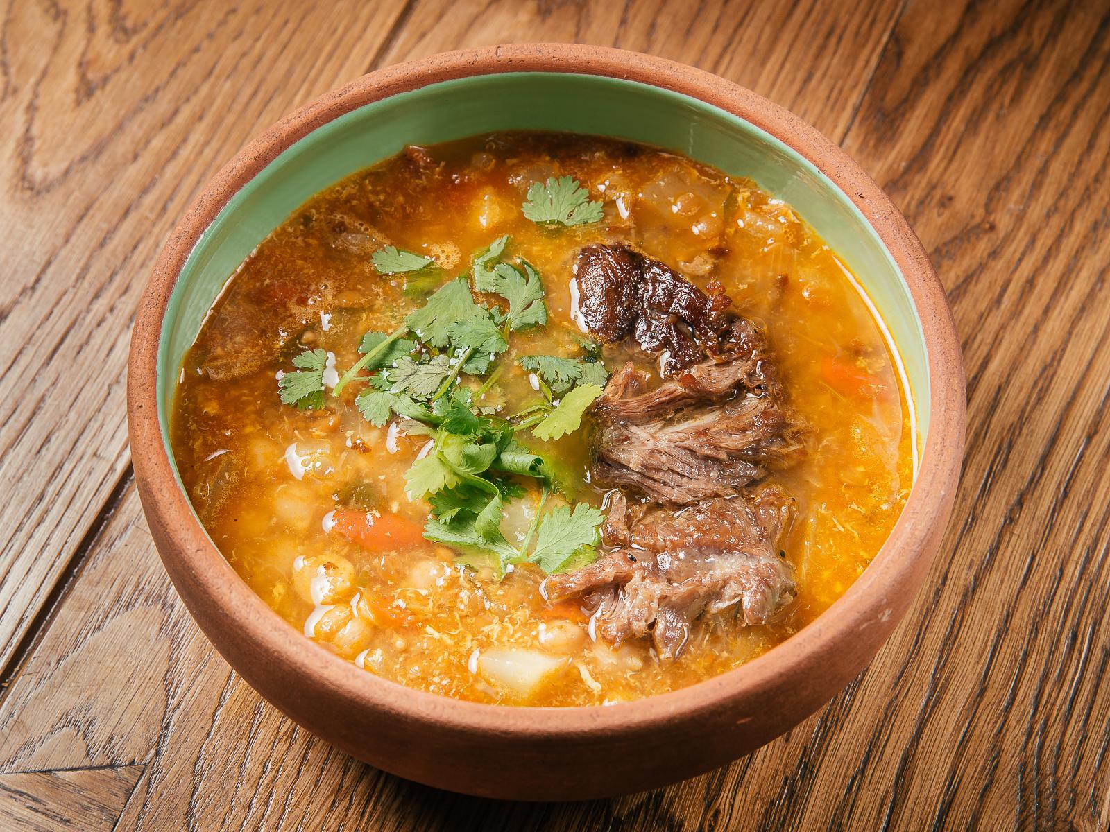Марокканский суп с ягненком и нутом