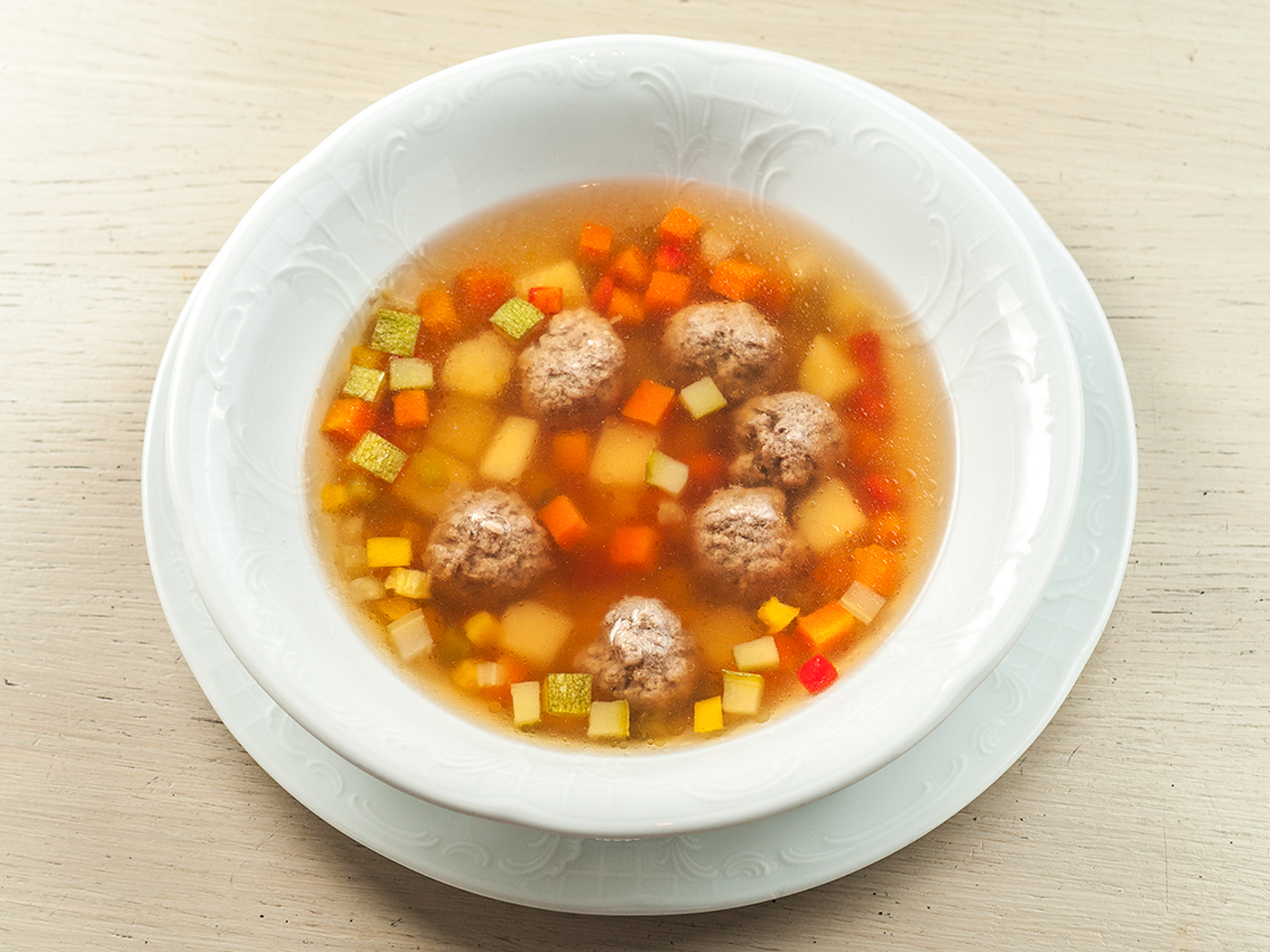 Суп Домашний с фрикадельками