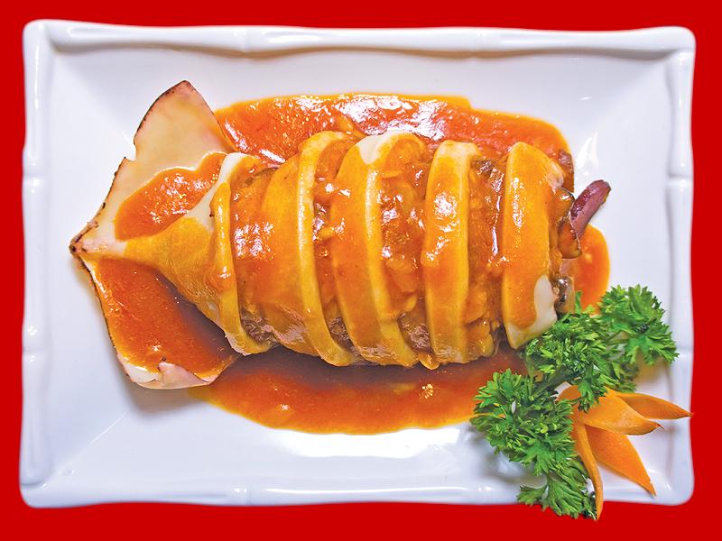 Кальмар с китайским рисом