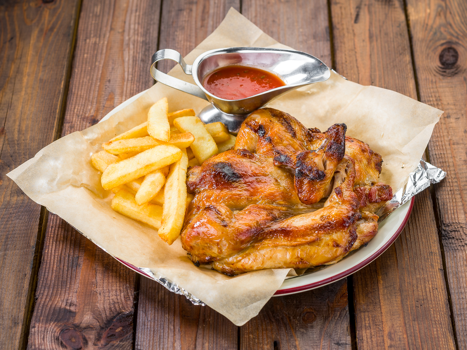 Цыпленок запеченный на гриле
