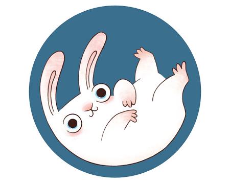 Значок с кроликом