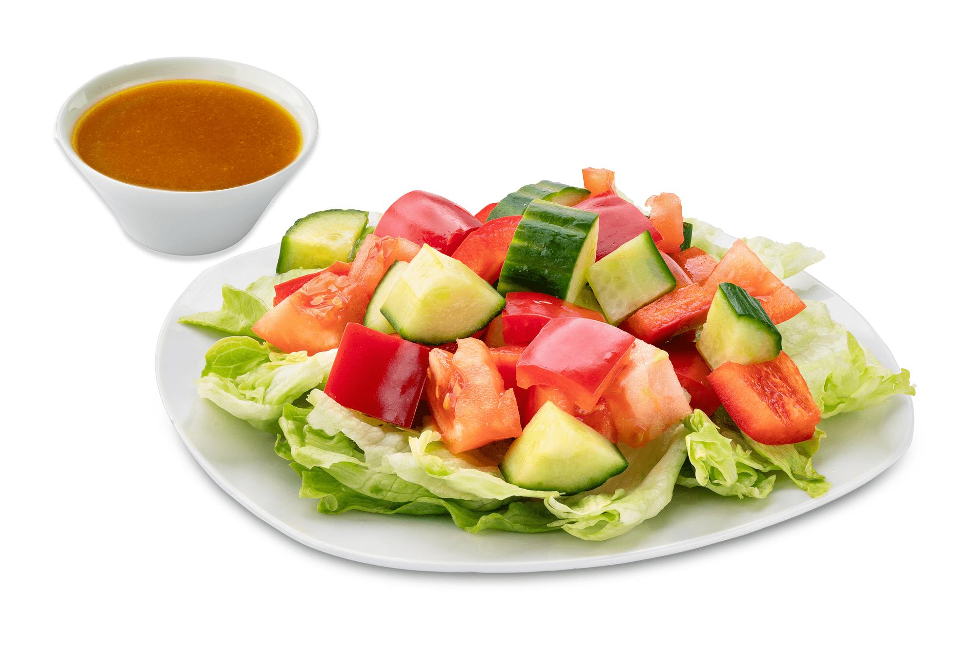 Fitness салат с имбирной заправкой