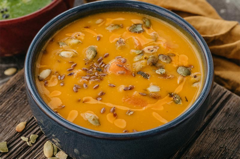 Крем-суп из тыквы с кокосовым молоком