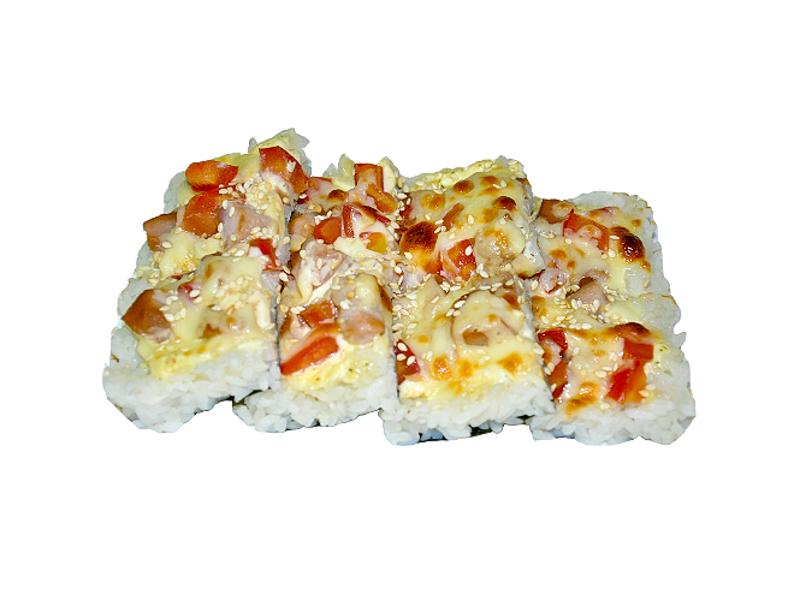 Суши пицца с тунцом