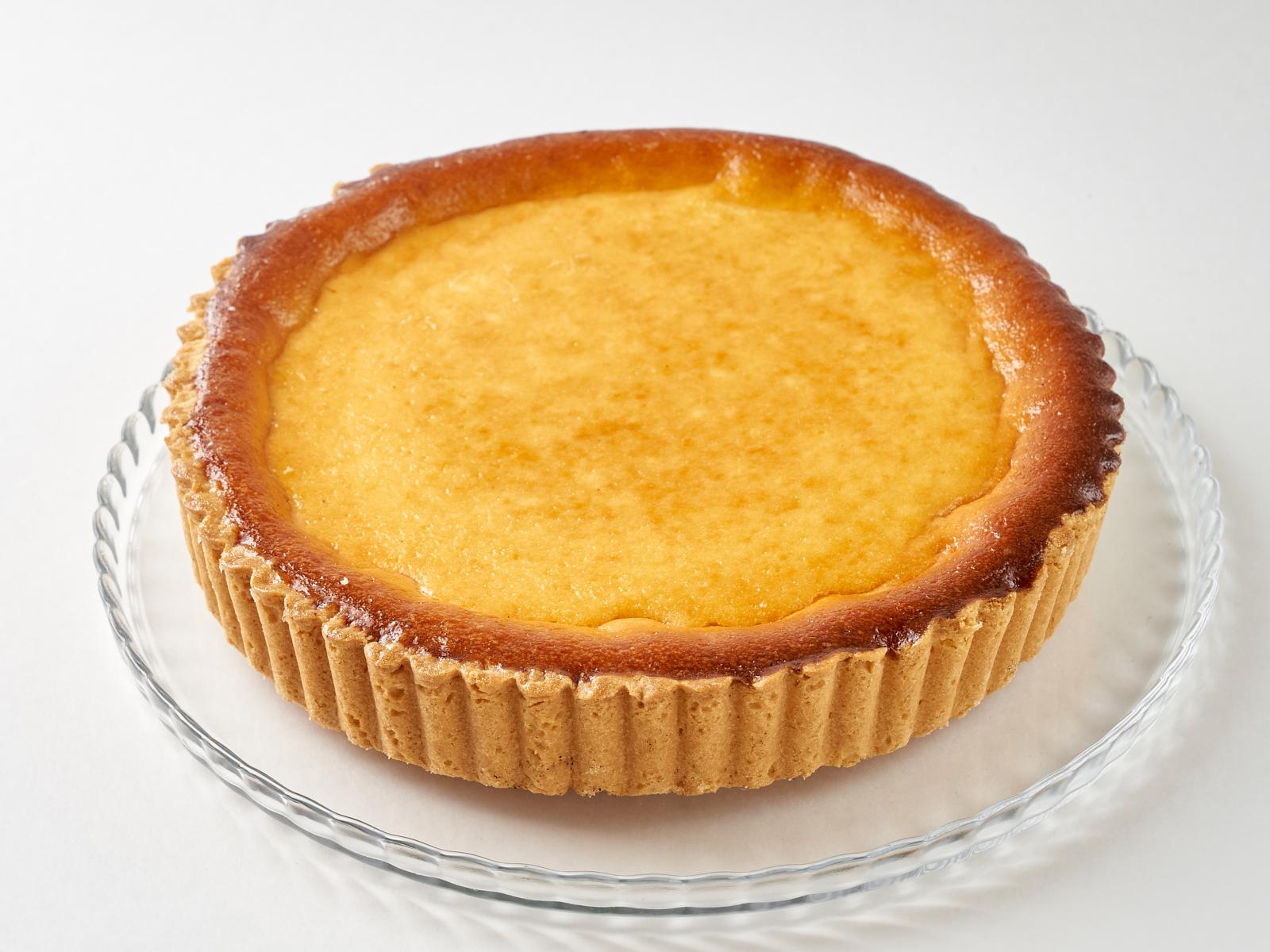 Пирог открытый с творогом кусок