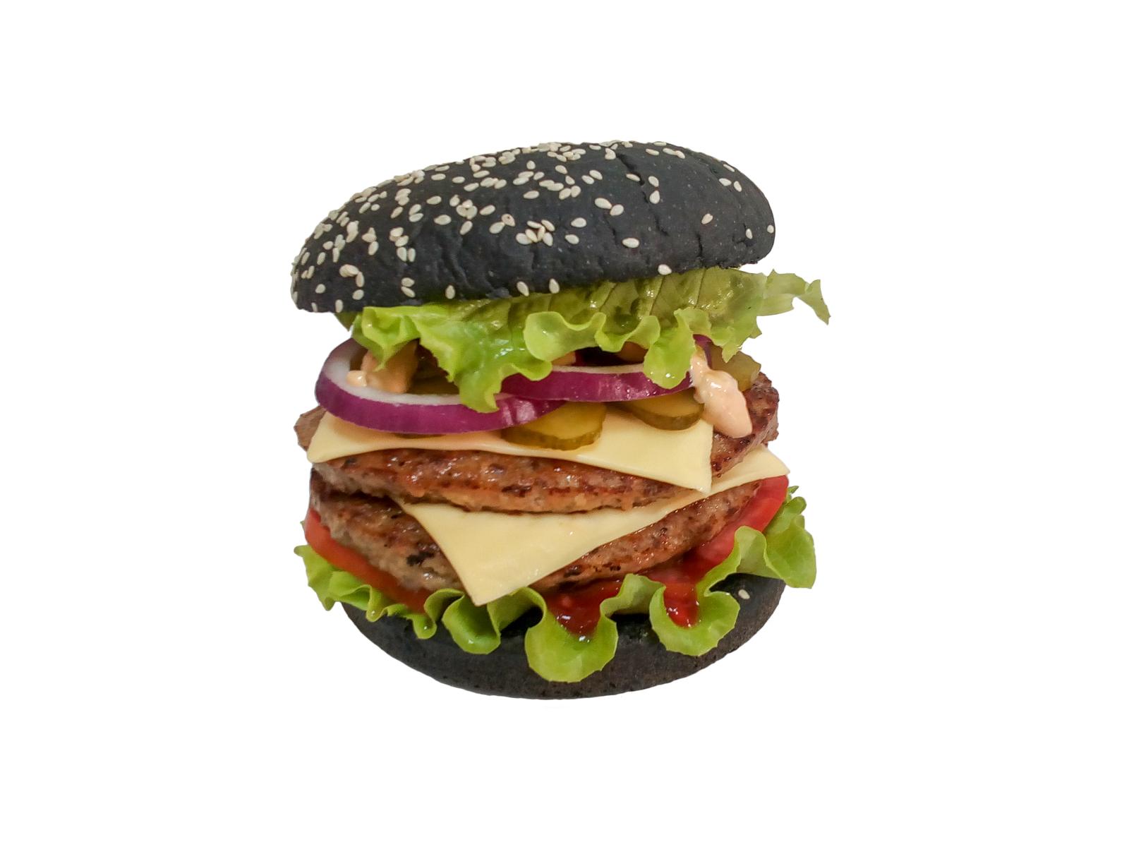 Бургер с двойной котлетой