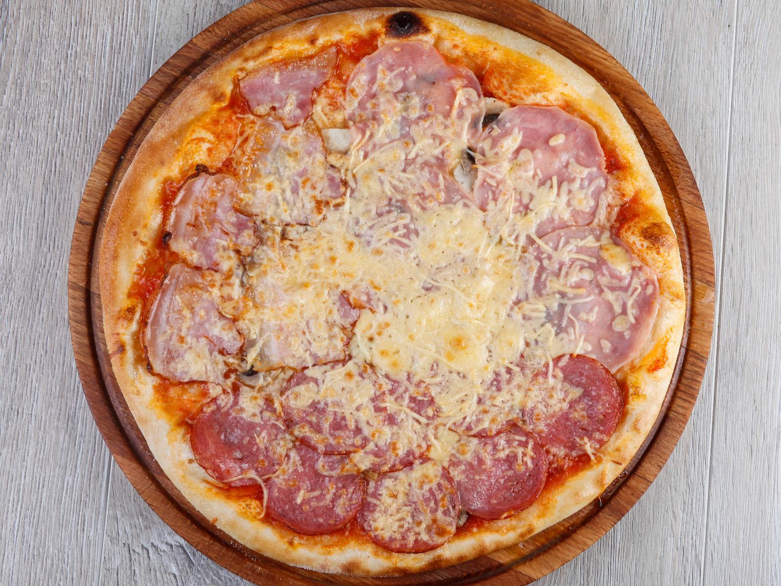 Пицца Мясное трио