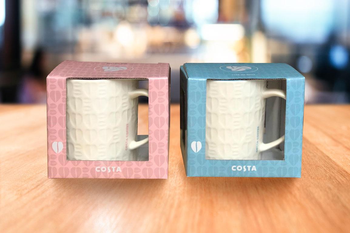 Кружка кофейная фарфоровая Embossed bean mug blue