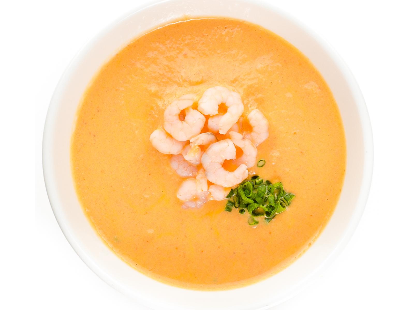 Креветочный крем-суп