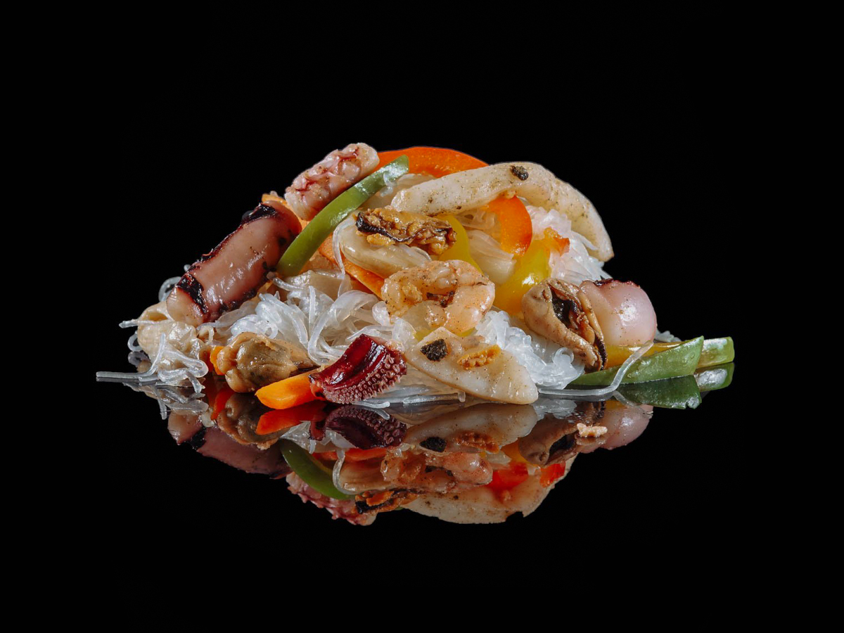 Вок Харусаме с морепродуктами