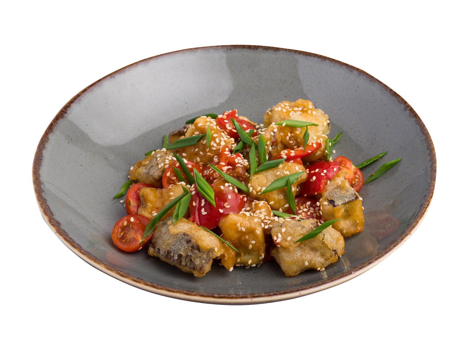 Салат с баклажанами в темпуре