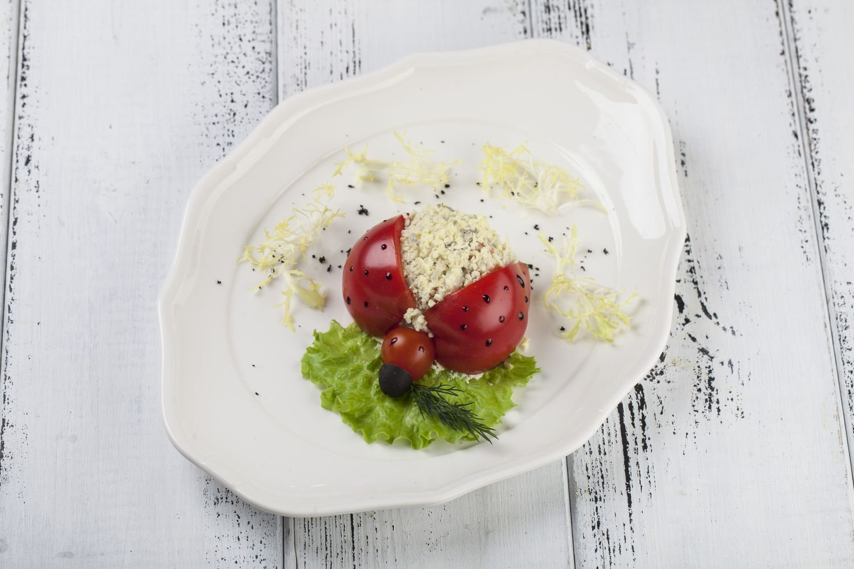 Салат оливье Божья коровка