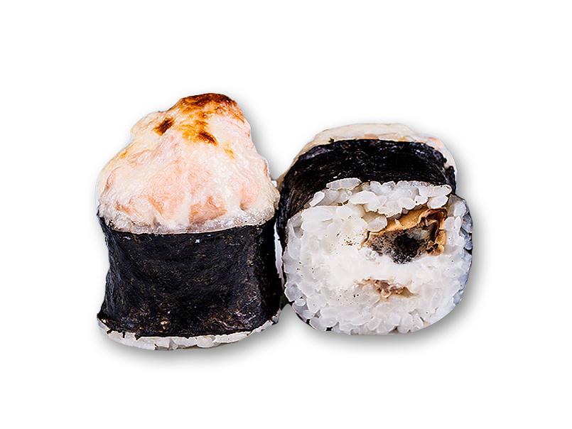 Ролл Запеченный с сыром и лососем