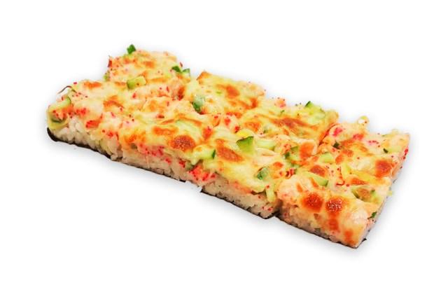 Суши-пицца с лососем