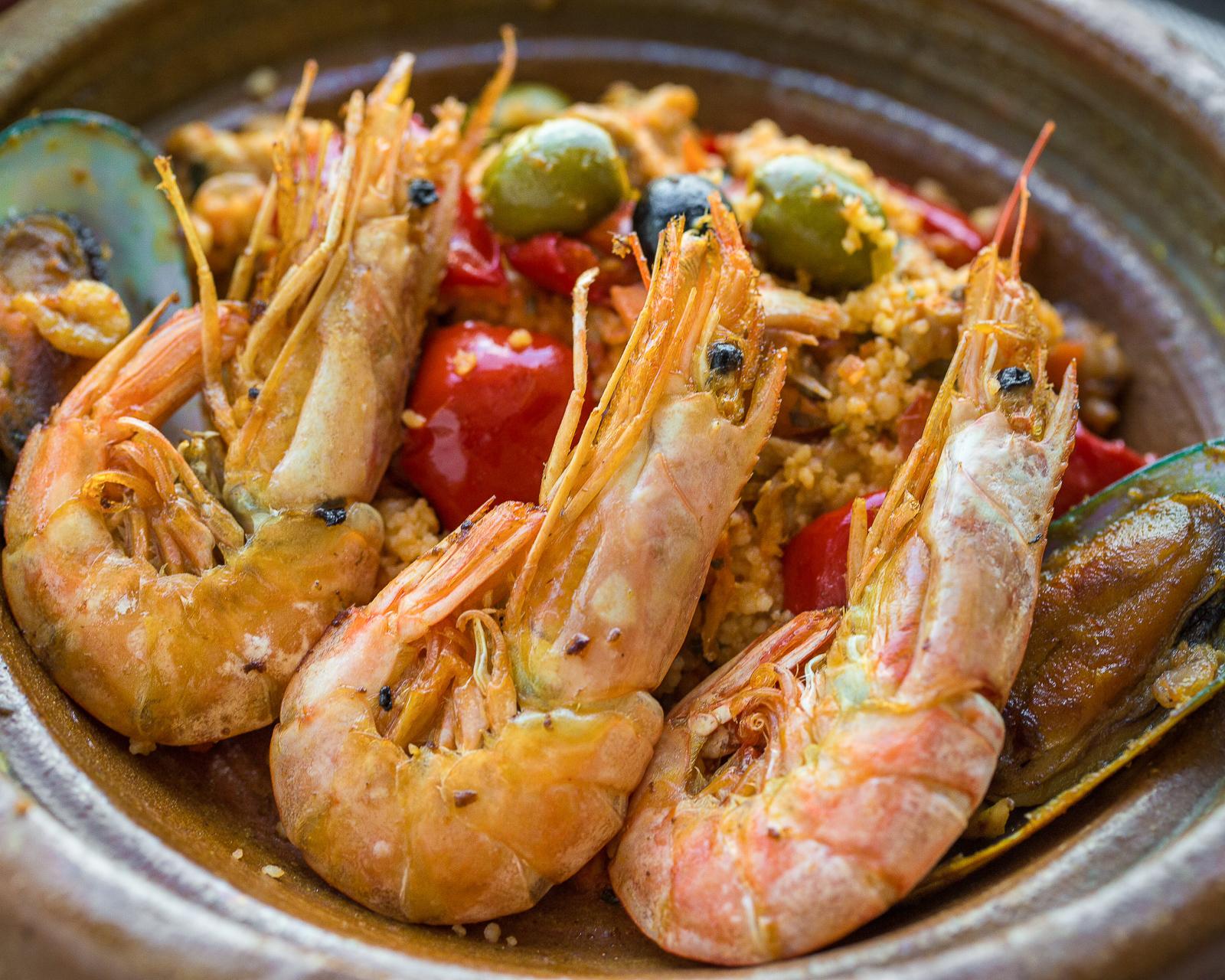 Кускус с креветками и морепродуктами
