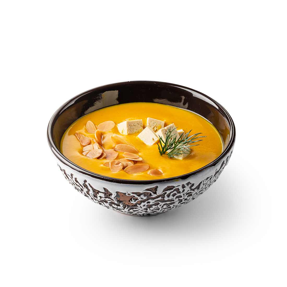Тыквенный суп на миндальном молоке