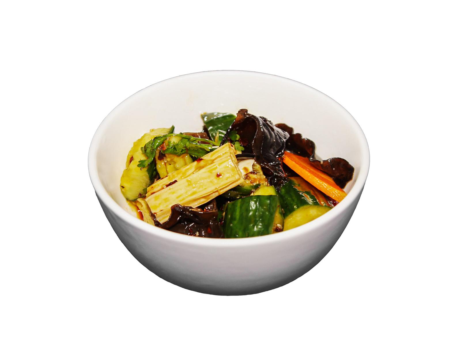 Салат из чёрных китайских грибов Муэр