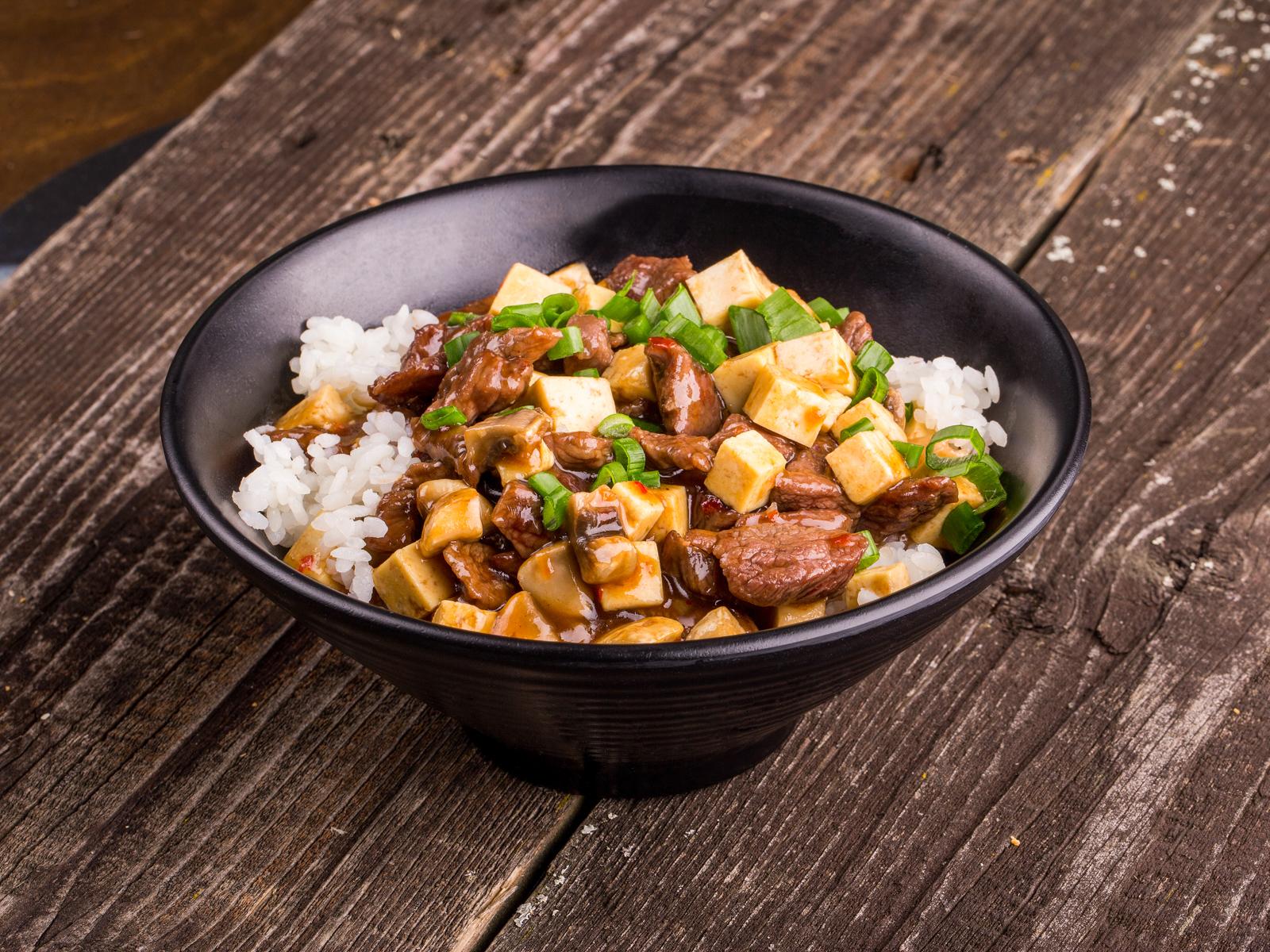 Рис с говядиной и тофу