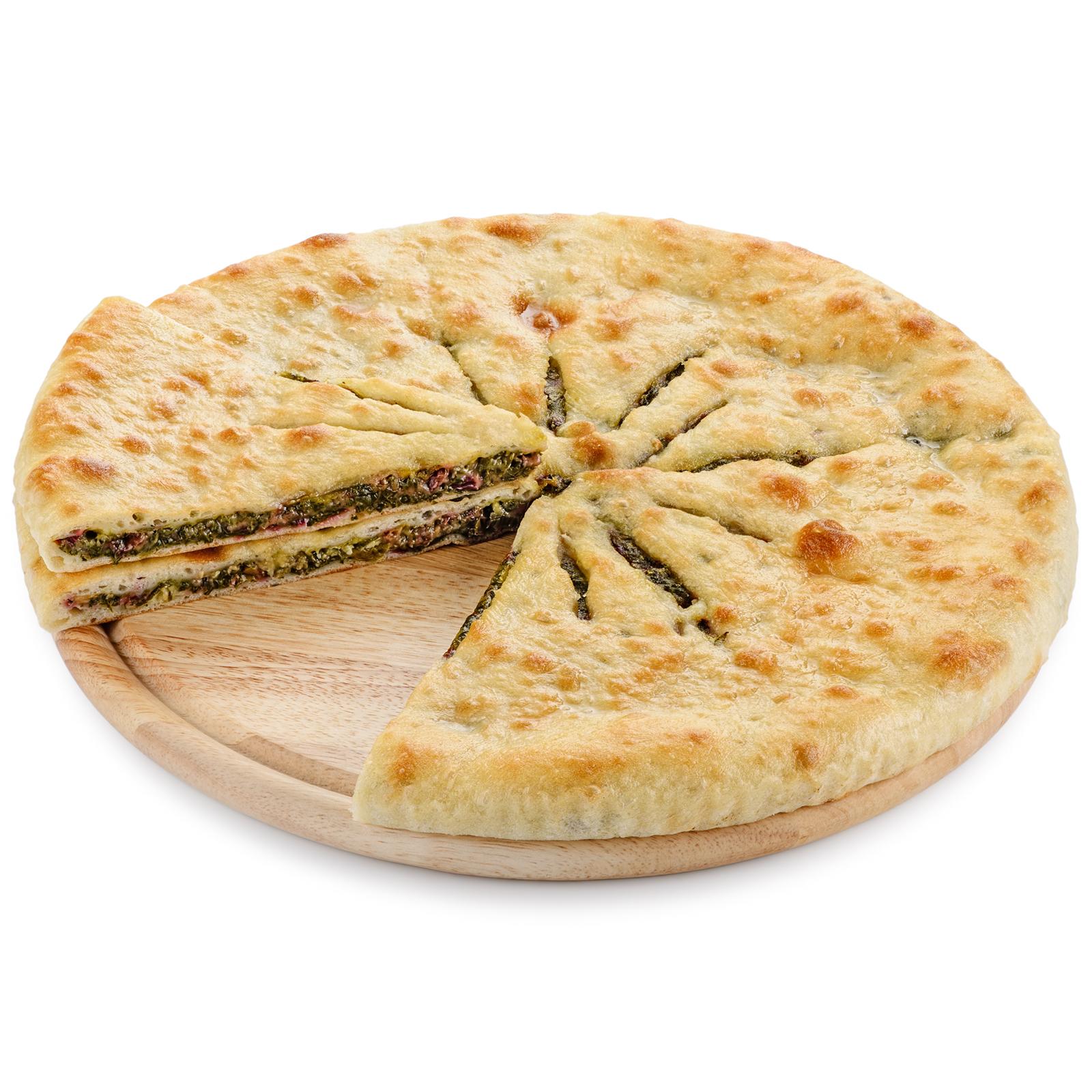 Пирог осетинский со свекольными листьями