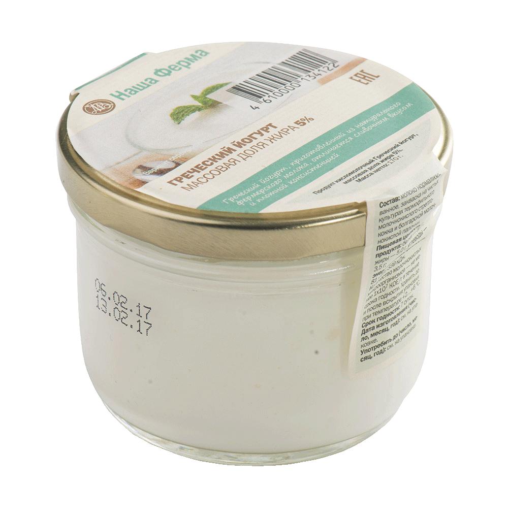 Йогурт Наша Ферма греческий 5% натуральный