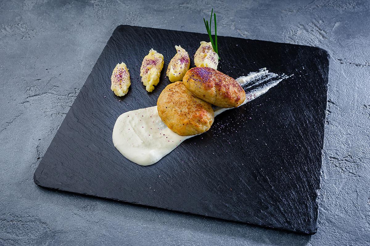 Котлеты рыбные с картофельным пюре