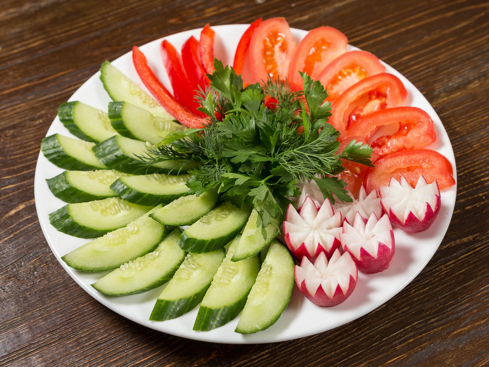 Микс из свежих овощей