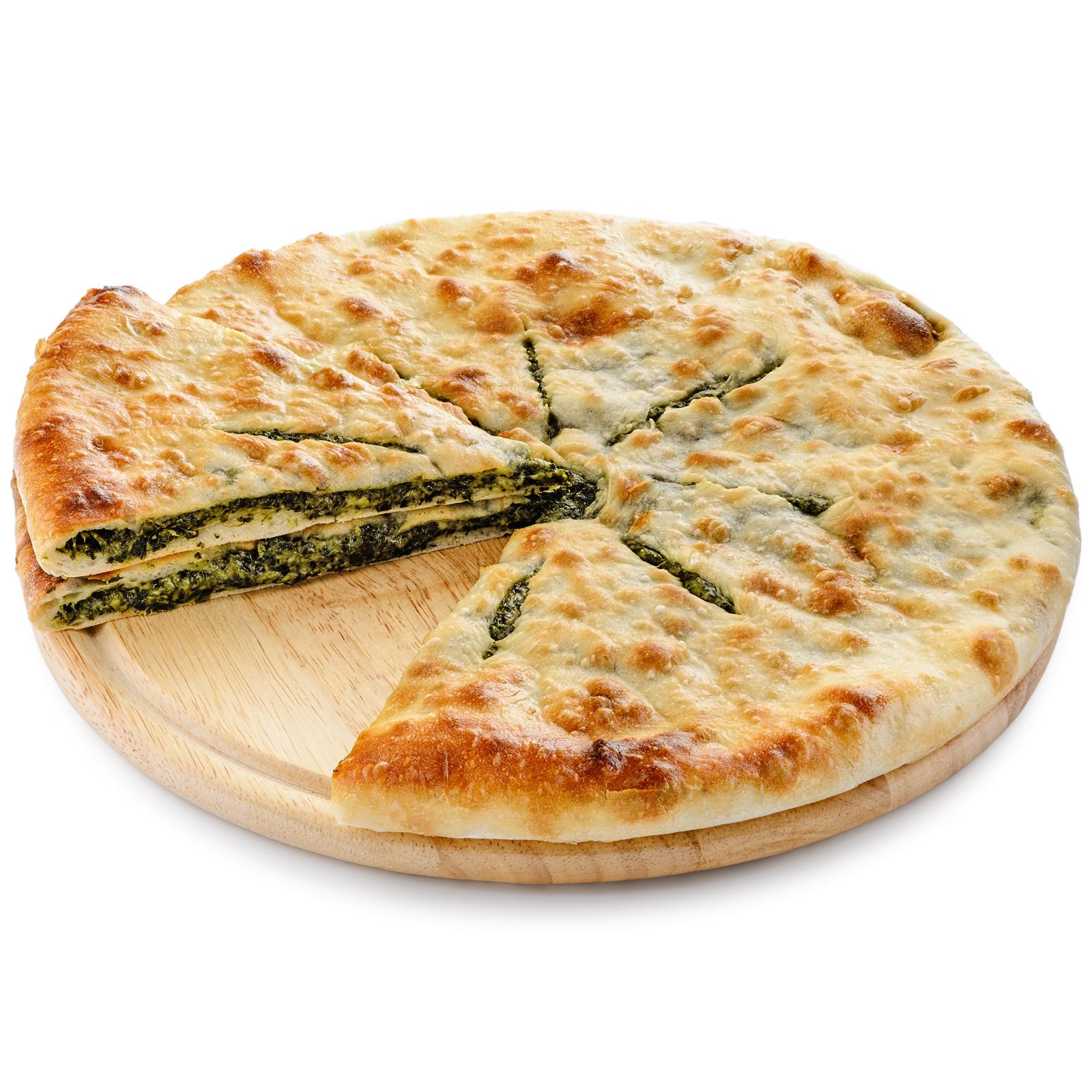 Пирог осетинский со шпинатом и сыром