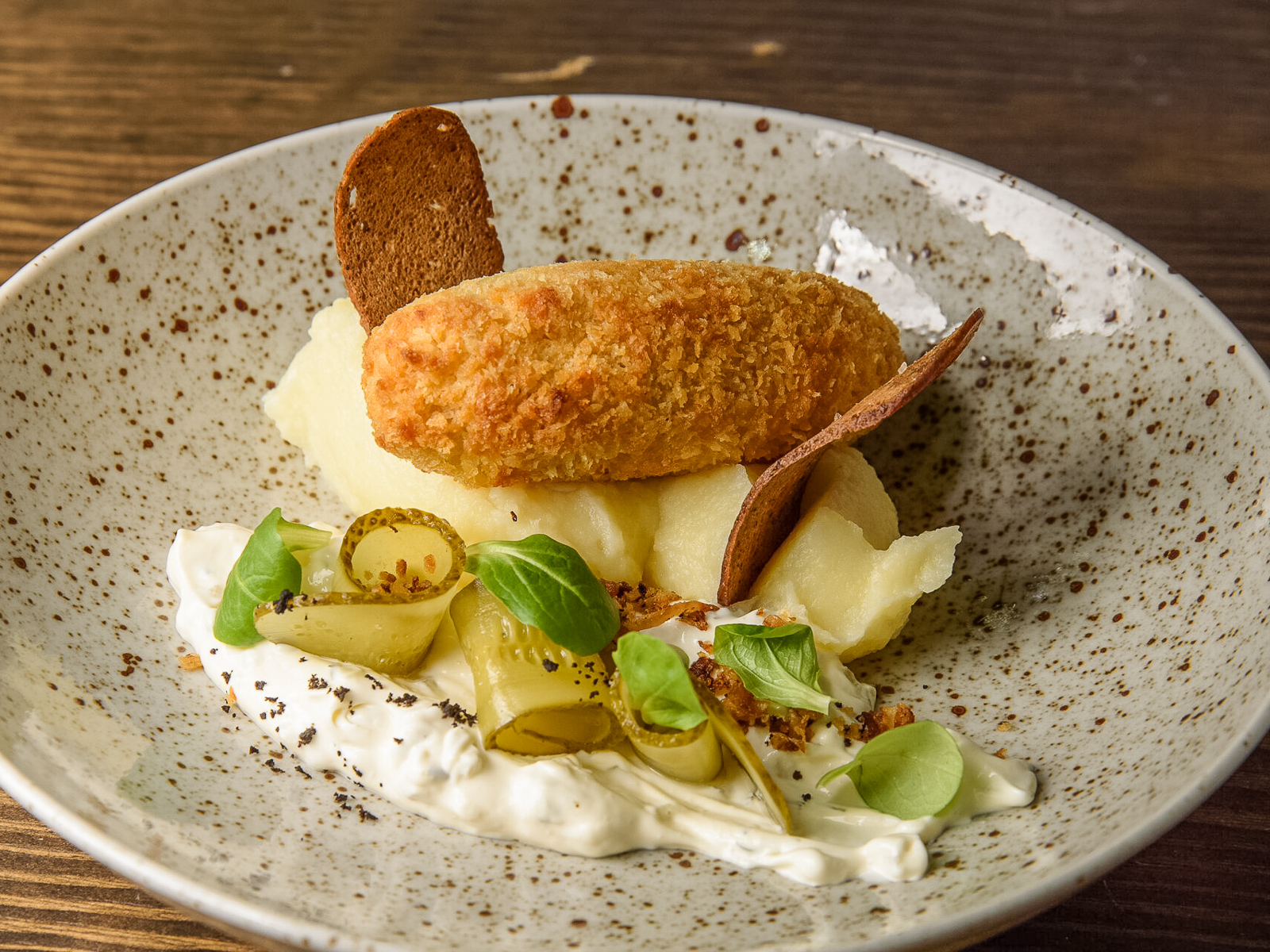 Зраза рыбная с картофельным пюре