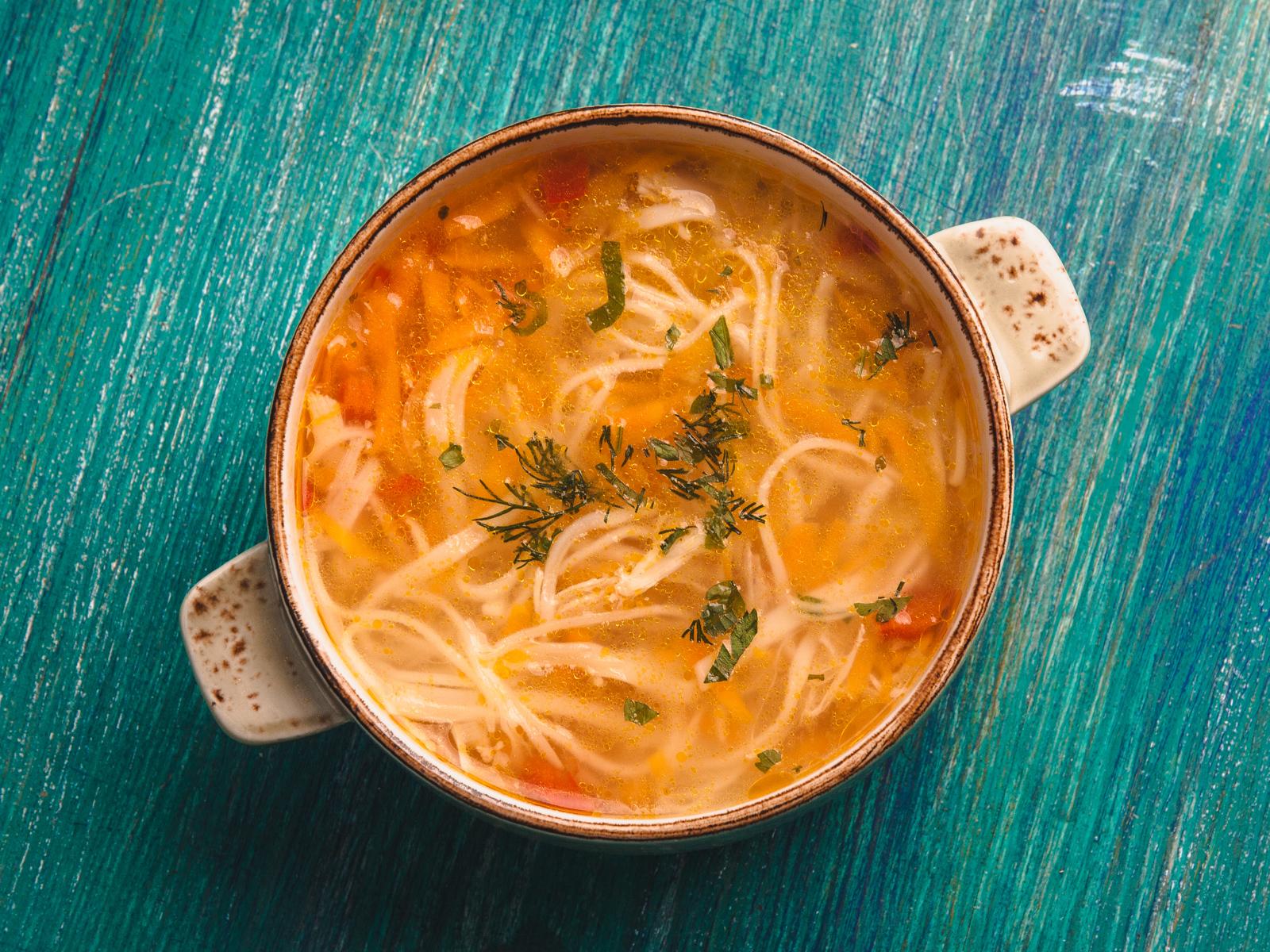 Суп лапша домашняя