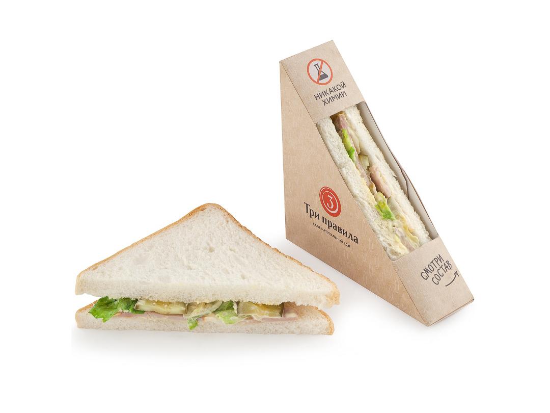 Сэндвич с бужениной и огурцами