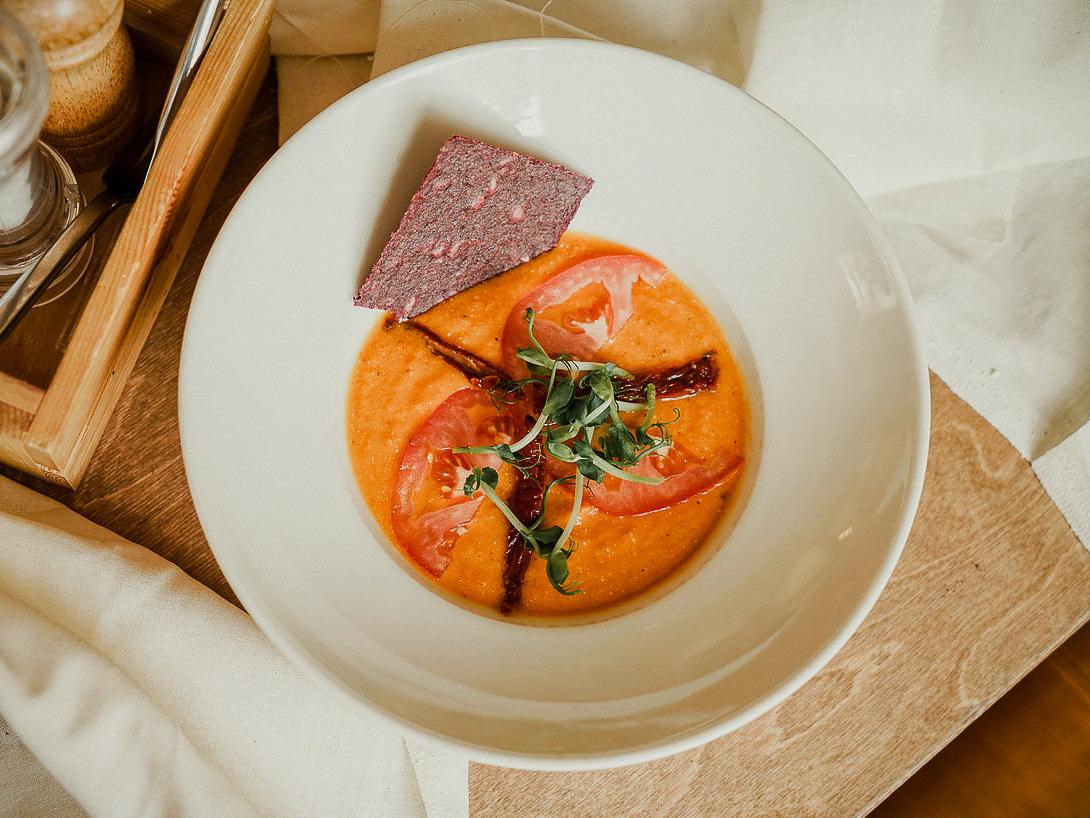 Суп Тортилья сыроедческий
