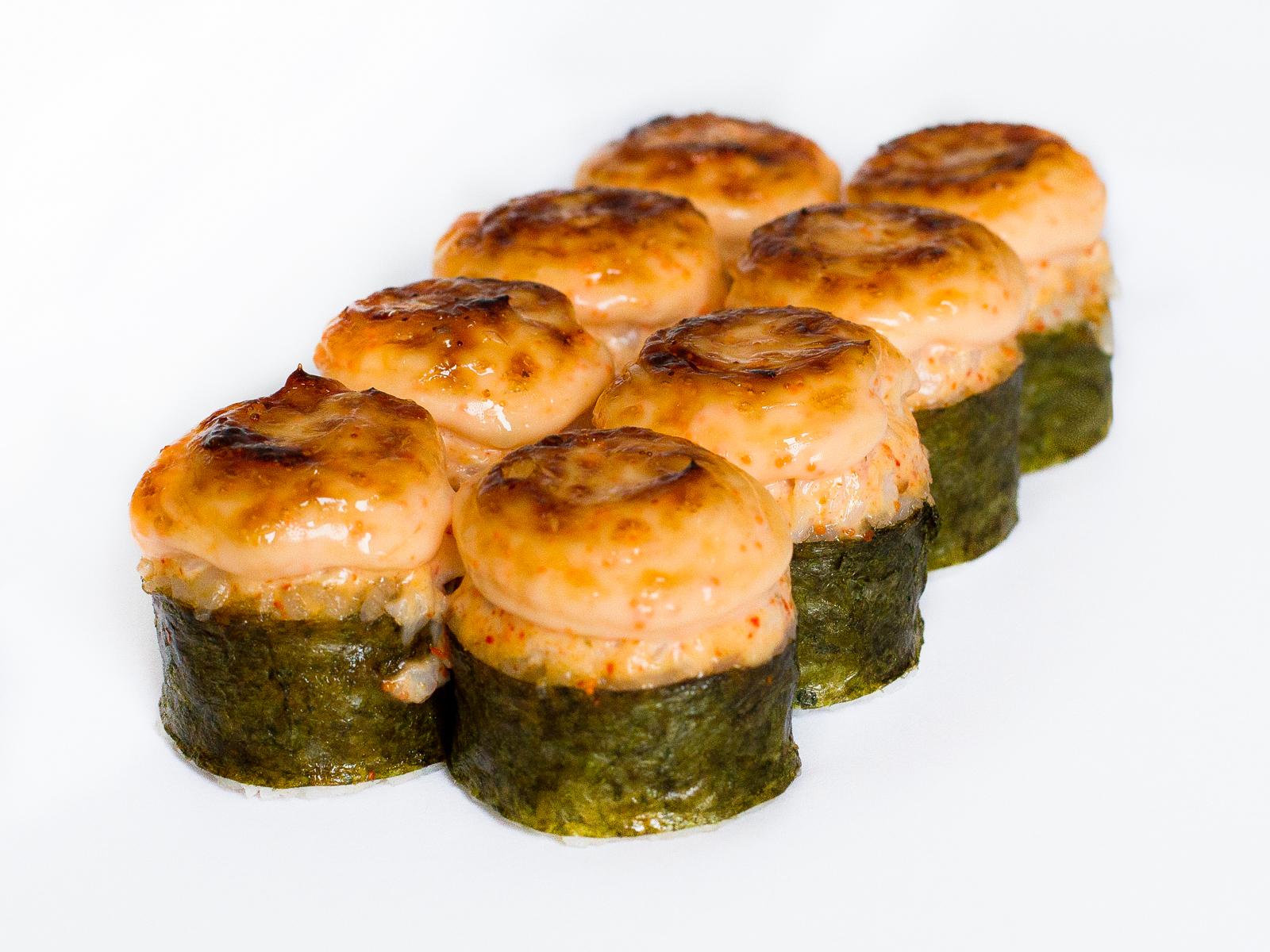 Ролл Запеченный с креветкой и лососем
