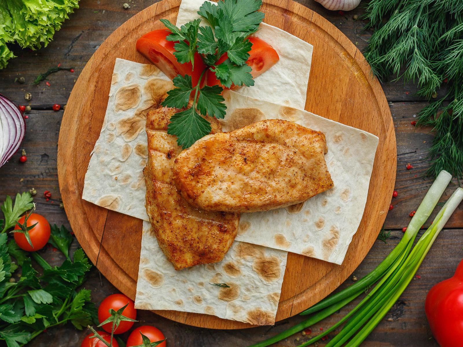 Маринованное куриное филе на гриле