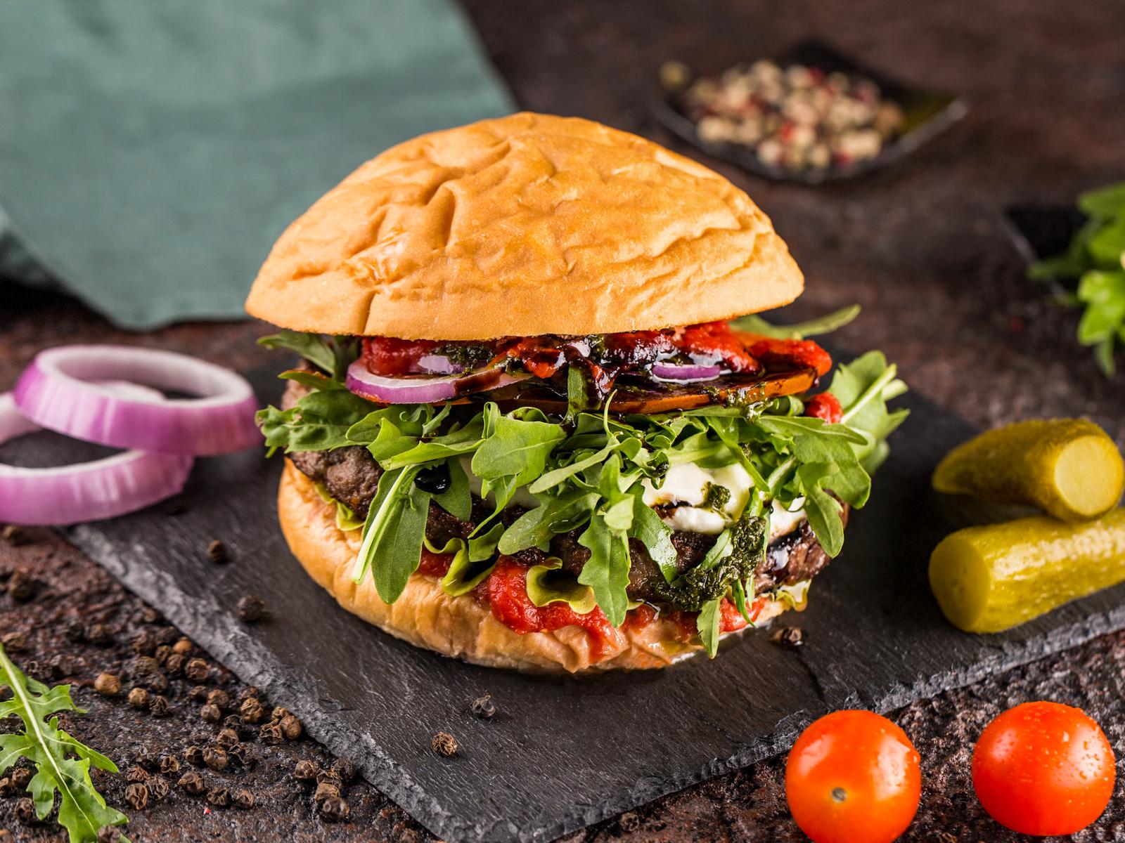 Бургер Сицилиец с говядиной