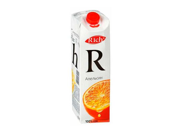 Cок Rich апельсин 1 л