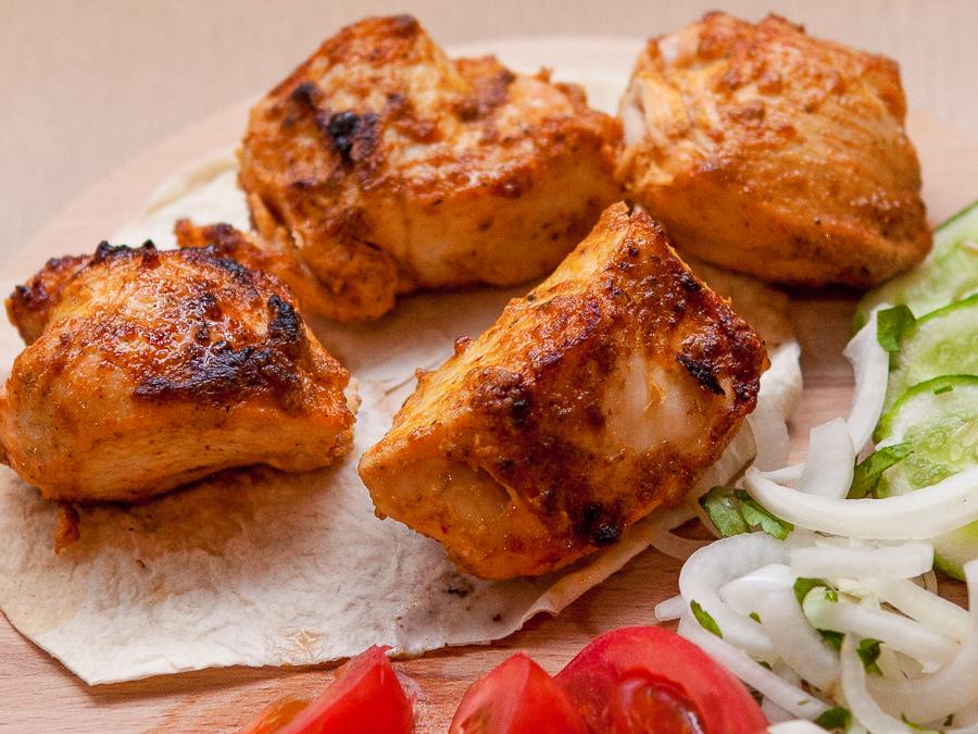 Шашлык из куриного филе