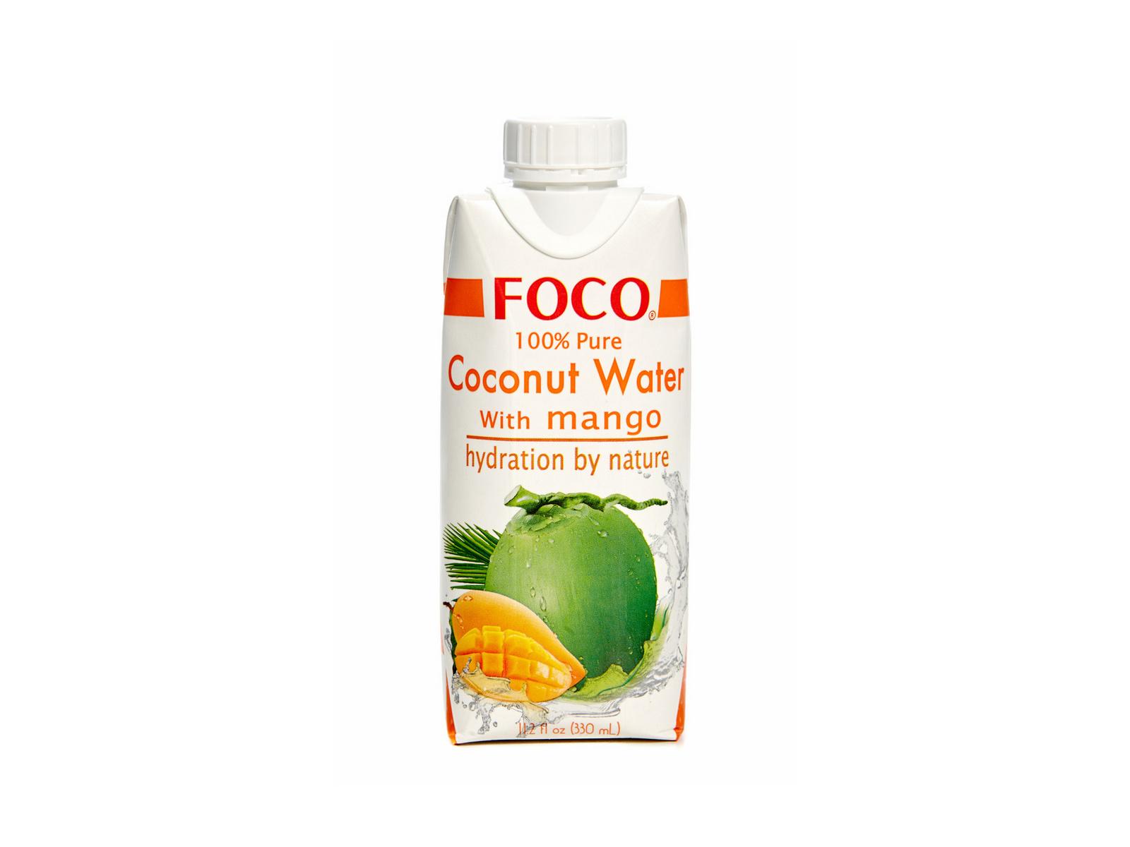 Натуральная кокосовая вода с нектаром манго