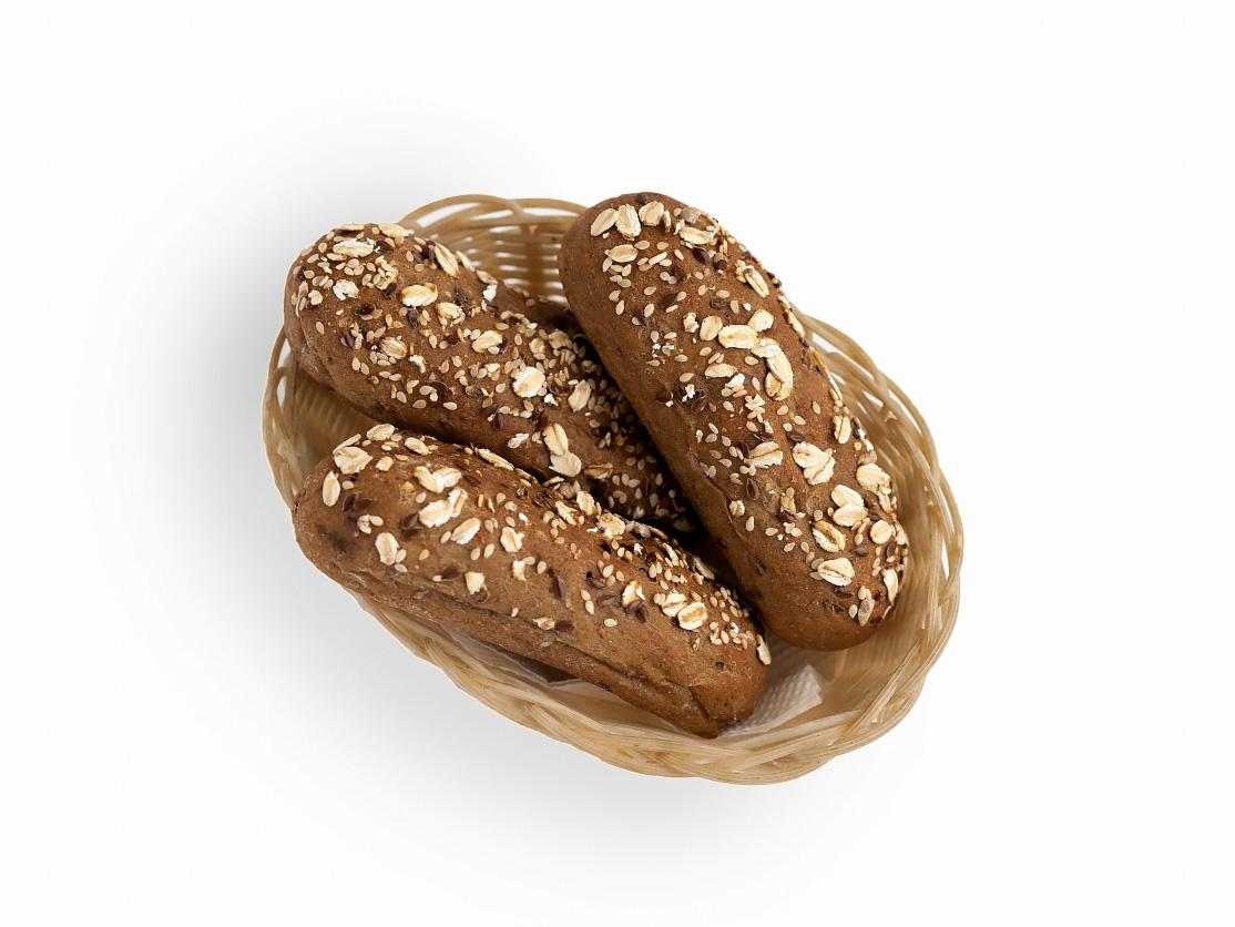 Хлебная булочка серая