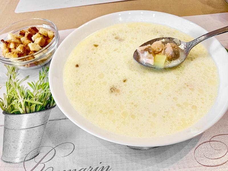 Суп Финский с лососем и сливками