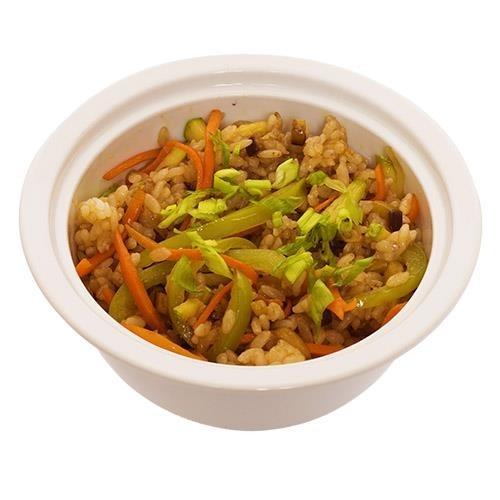 Рис с баклажанами и овощами