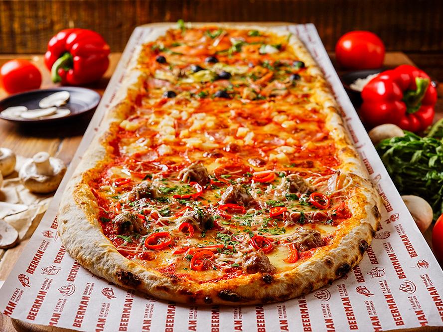 Метровая пицца