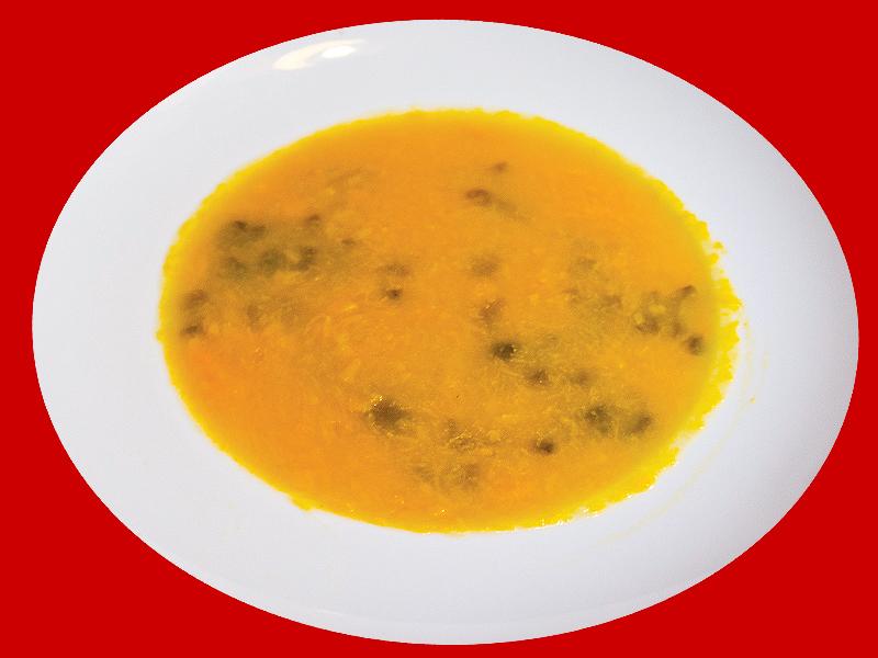 Суп из тыквы с трепангом
