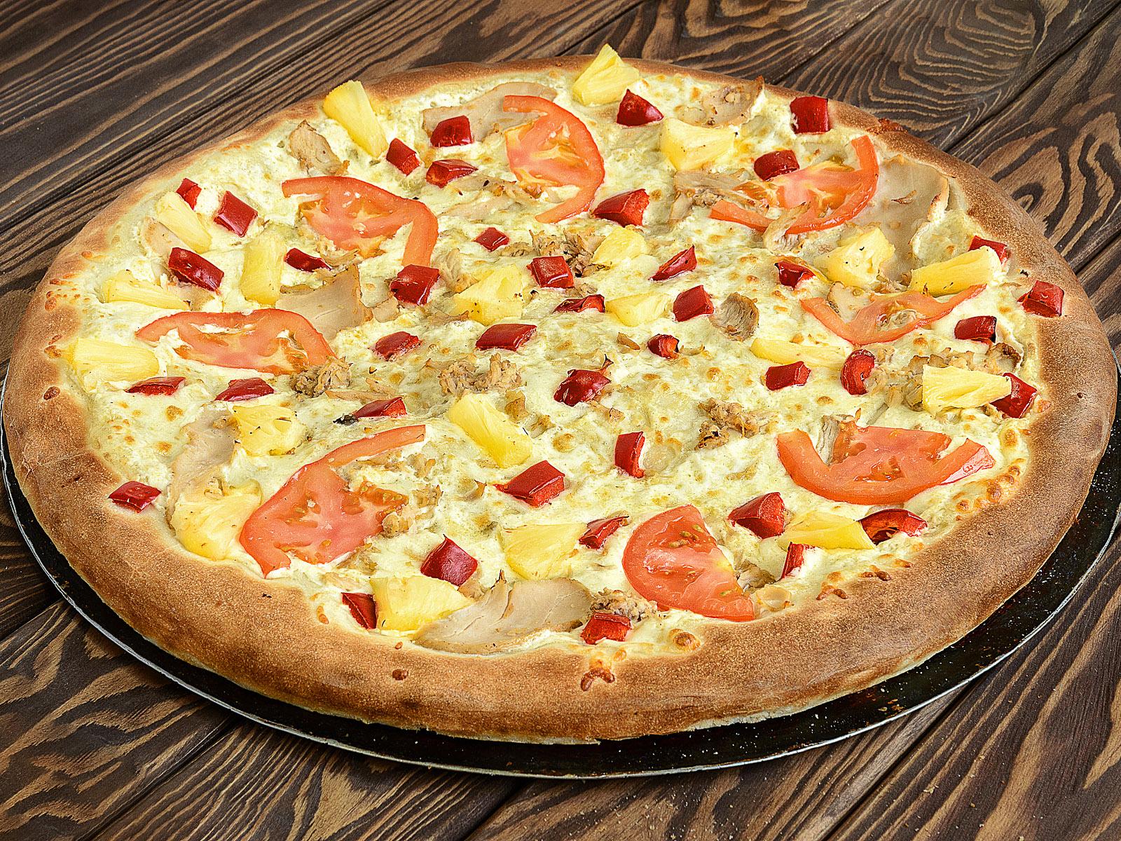 Пицца Гавайская в ресторане Лео