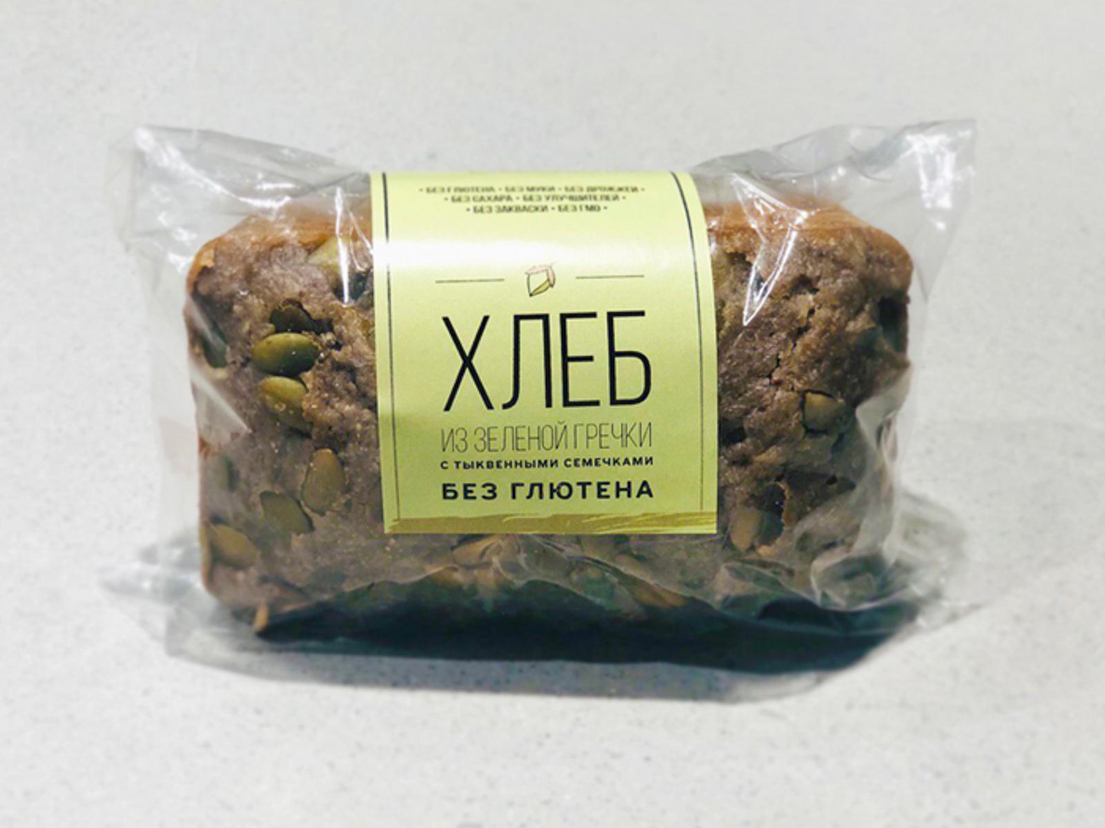 Хлеб из пророщенной зеленой гречки