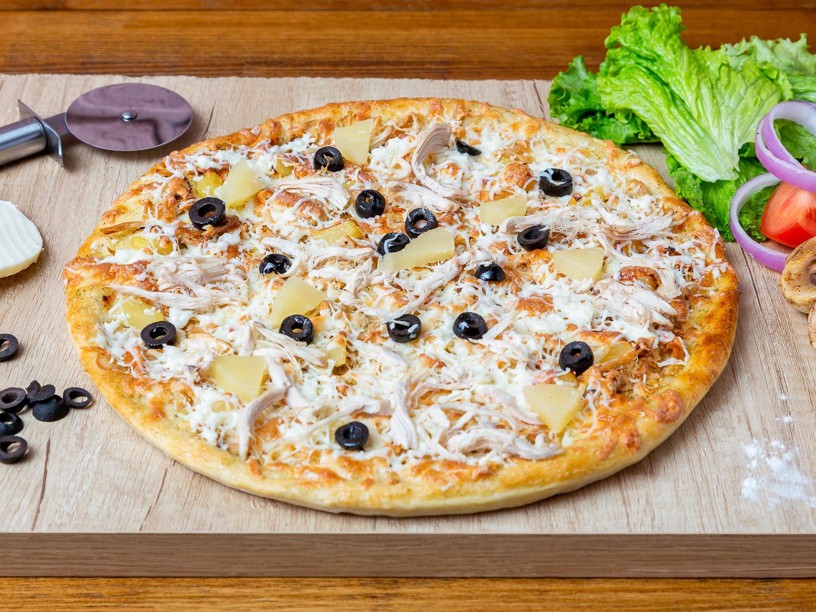 Пицца Курица и ананасы