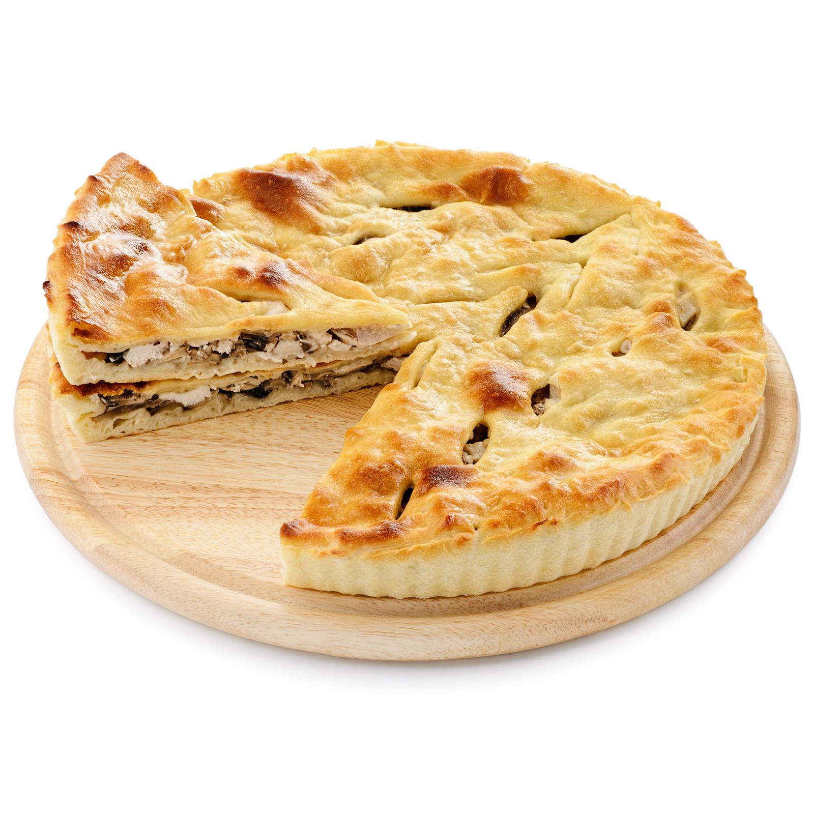Пирог осетинский с курицей и грибами